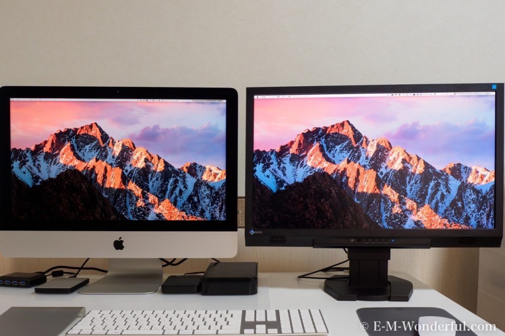 20170706 P7060164 1024x682 - iMac 4k 21.5インチをデュアルディスプレイで使用してみました