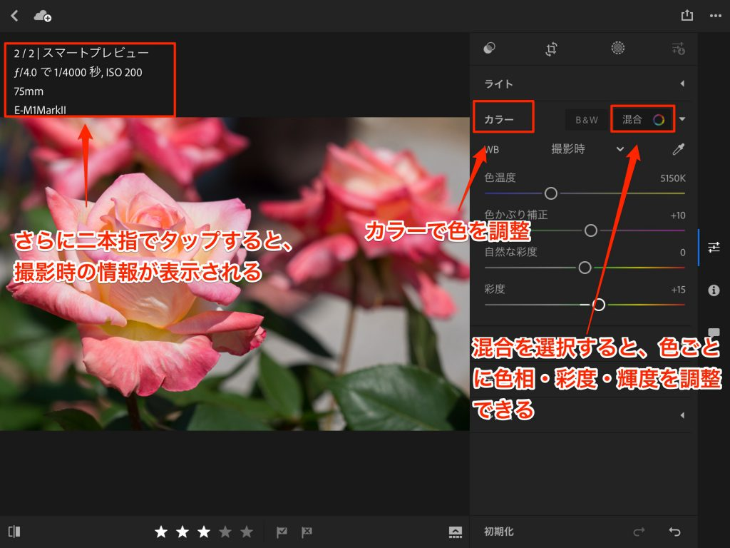 IMG 0097 1024x768 - iPad ProでAdobe Photoshop Lightroom CC モバイル版を使ってみました