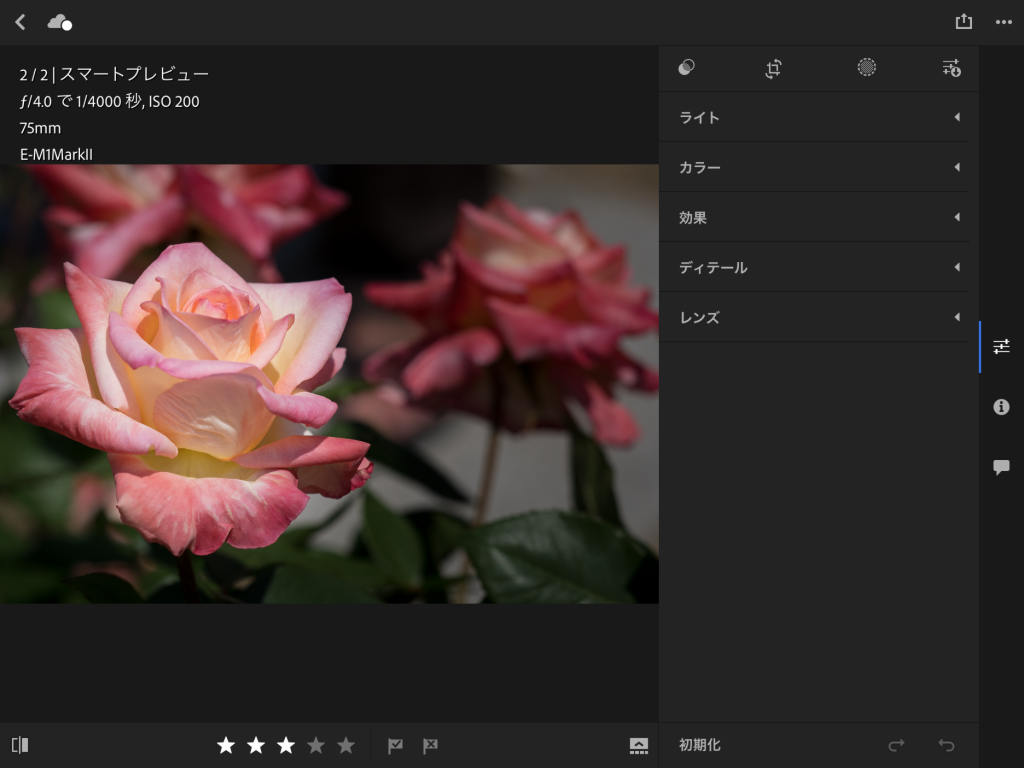 IMG 0104 1024x768 - iPad ProでAdobe Photoshop Lightroom CC モバイル版を使ってみました