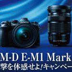 最大7万円のキャッシュバック、オリンパスがOLYMPUS OM-D E-M1markⅡ衝撃を体感せよ!キャンペーンを実施