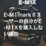 20190202 P2020084 Edit1 1 150x150 - E-M1 Mark Ⅱユーザーの自分がE-M1Xを購入しない理由