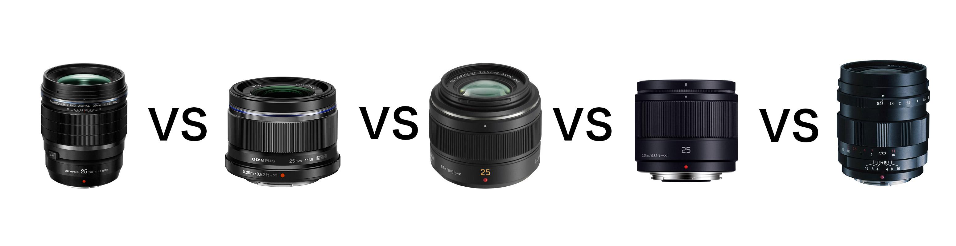 25vs - マイクロフォーサーズ専用25mm単焦点レンズ比較レビュー(オリンパス・パナソニック・コシナ)