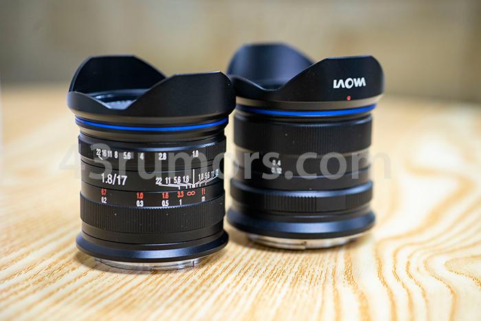 Compare with 9mm - 7枚の絞り羽を備えた新しいLaowa 17mm F1.8レンズのリーク画像