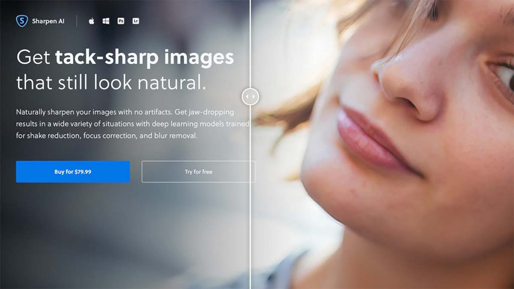 Sharpen AI 1024x576 - (クーポン付き)Topaz LABSの画像編集ソフトのラインナップや特徴、購入方法を解説